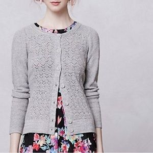 Anthropologie Sparrow Pointelle gray cardigan